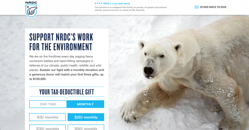 NRDC Donate Page